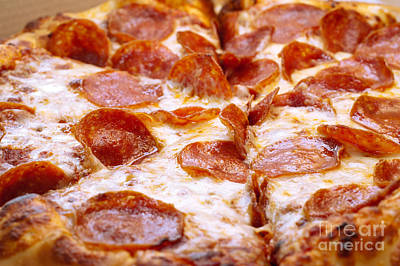Andee Fine Art And Digital Design Photograph - Pepperoni Pizza 1 - Pizzeria - Pizza Shoppe by Andee Design