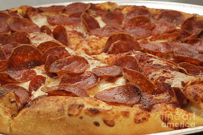 Pizza Photograph - Pepperoni Pizza 24 by Andee Design