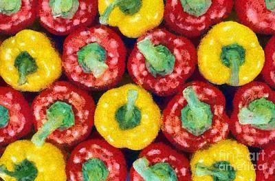 Macro Painting - Peppers by George Atsametakis