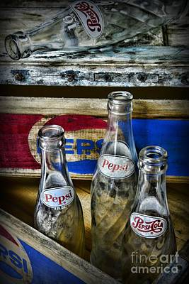 Pepsi Bottles And Crates Print by Paul Ward