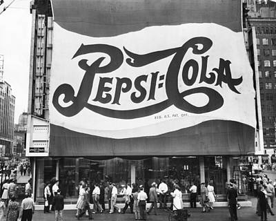Pepsi Cola Sign Print by MMG Archives