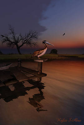 Loon Digital Art - Perch With A View by Kylie Sabra