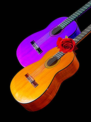 Guitar Photograph - Perfect Harmony - Acoustic Guitars by Gill Billington