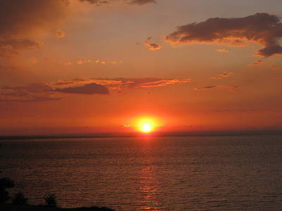 Perfect Sunset Over Lake Ontario Original by Elisabeth Ann