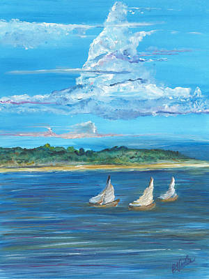 Sailboat Ocean Painting - Perfection by Bev Veals