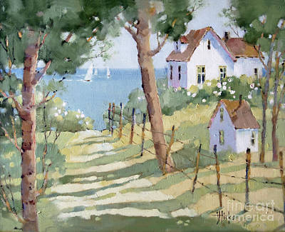 Peonies Painting - Perfectly Peaceful Nantucket by Joyce Hicks