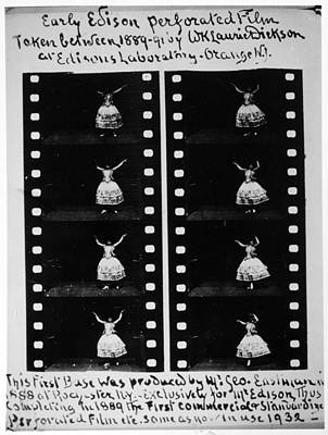 Dickson Photograph - Perforated Film, 1888 by Granger