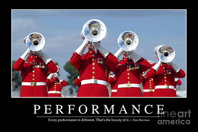 Performance Inspirational Quote Print by Stocktrek Images