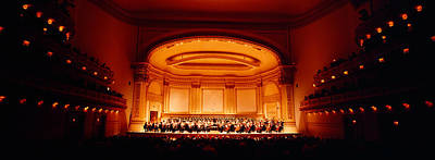 Stage Theater Photograph - Performers On A Stage, Carnegie Hall by Panoramic Images