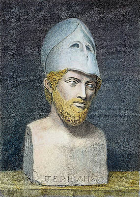 Statue Portrait Painting - Pericles (c495-429 B by Granger