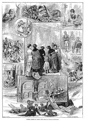 Perils Of Daily Life, 1881 Print by Granger