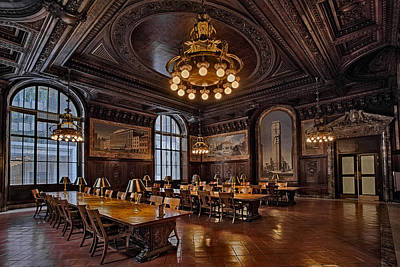 Periodicals Room New York Public Library Print by Susan Candelario