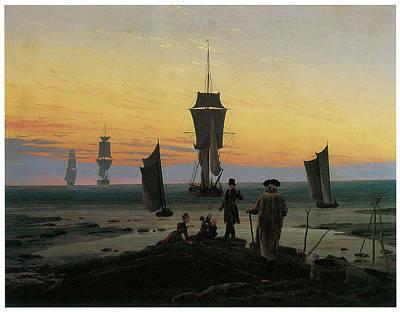Periods Of Life Print by Caspar David Friedrich