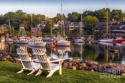 Perkins Cove Harbor Print by Jerry Fornarotto