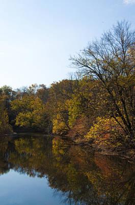 Perkiomen Creek In Autumn Print by Bill Cannon