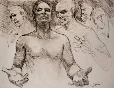 Persecution Sketch Original by Jani Freimann