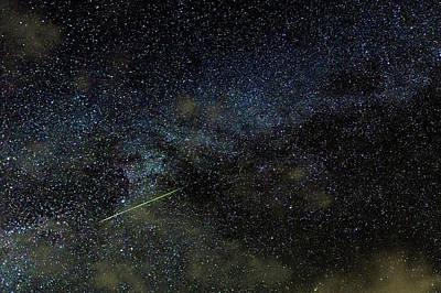 Perseid Meteor Track Over Hawaii Print by Babak Tafreshi