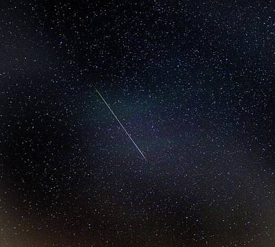 Perseid Meteor Trail Print by Chris Madeley