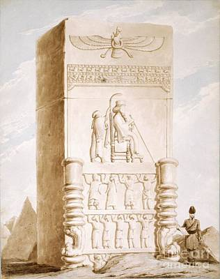 Carving In Stone Photograph - Persepolis Bas-relief, 19th Century by British Library