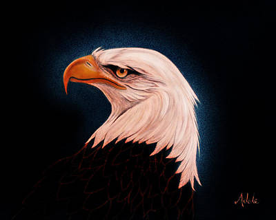 Eagle Painting - Perserverance II by Adele Moscaritolo