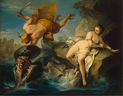 Charles-andre Van Loo Painting - Perseus And Andromeda by Charles-Andre van Loo