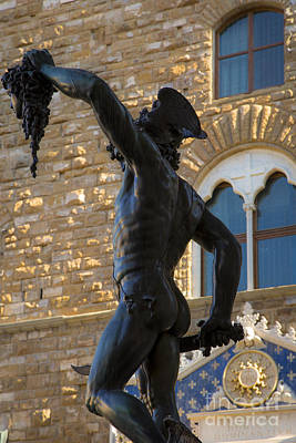 Medusa Photograph - Perseus Statue - Florence by Brian Jannsen