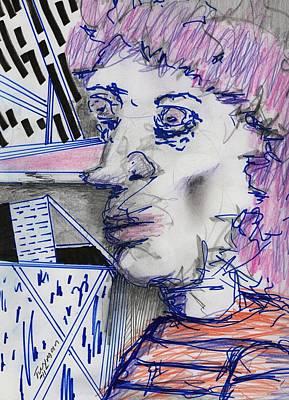 Surreal Drawing - Person 47 by Dan Twyman