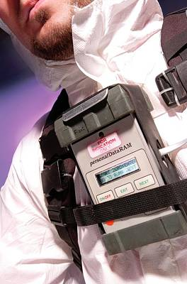 Personal Aerosol Monitor And Alarm Print by Crown Copyright/health & Safety Laboratory Science Photo Library