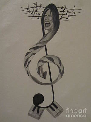 Steven Tyler Painting - Personification Of Music by Jeepee Aero