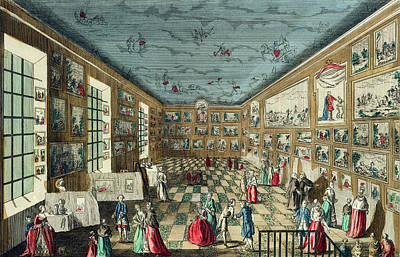 Perspective View Of The Salon Print by French School