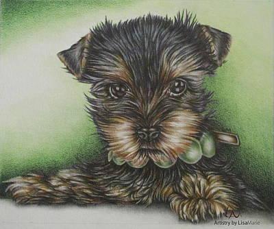 Pet Portrait - Scruffy Print by Lisa Marie Szkolnik