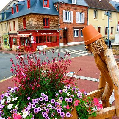 Epicerie Photograph - Petal Pusher In Normandy by Barbie Corbett-Newmin