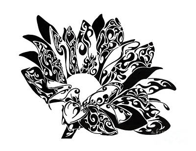 Nature Abstract Drawing - Petaled Beauty by Anushree Santhosh
