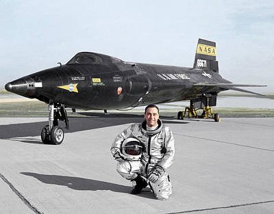 Airfield Photograph - Pete Knight As X-15 Test Pilot by Nasa