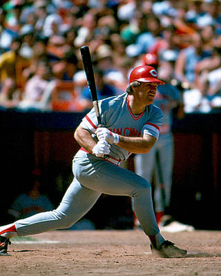 Slugger Photograph - Pete Rose Connecting On Pitch by Retro Images Archive