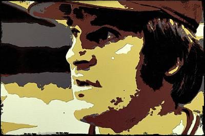 Baseball Players Portrait Digital Art - Pete Rose Portrait Art by Florian Rodarte