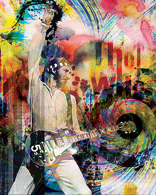 Townshend Painting - Pete Townshend - The Who  by Ryan Rock Artist