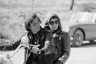 Peter Fonda And Nancy Sinatra In The Wild Angels Print by The Phillip Harrington Collection