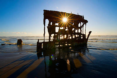 Peter Iredale Shipwreck, Fort Stevens Print by Panoramic Images