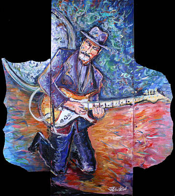 Eric Clapton Painting - Peter Parcek Plays The Blues by Jason Gluskin