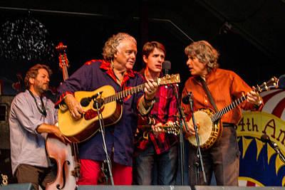Blissfest Print featuring the photograph Peter Rowan Bluegrass Band by Bill Gallagher
