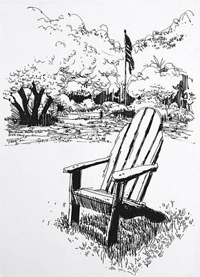 Santa Monica Drawing - Peter Strauss Ranch Chair  by Robert Birkenes
