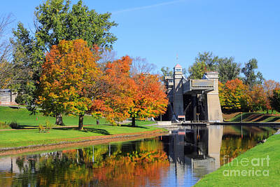 Peterborough Lift Lock Print by Charline Xia