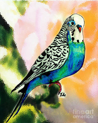 Parakeet Mixed Media - Petie by Ida Knuuttila