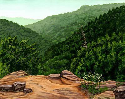 Petit Jean Mountains Print by Dustin Miller