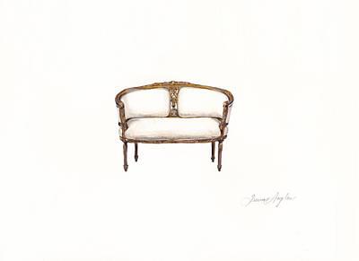 Petite Loveseat  Original by Jazmin Angeles