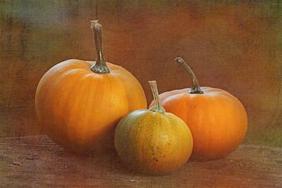 Petite Pumpkins Print by Angie Vogel