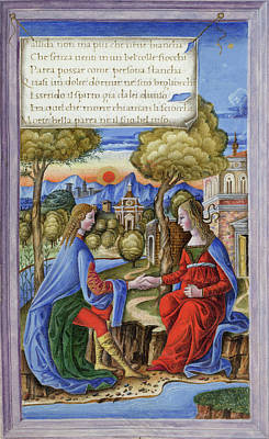 Petrarch And Laura Print by British Library