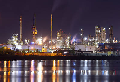 Petrochemical Plant In Night  Original by Ioan Panaite