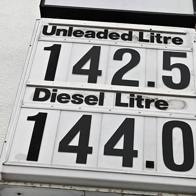 Premium Gas Photograph - Petrol Prices by Tom Gowanlock